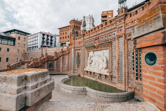 oval staircase of teruel mudejar city in aragon, Spain