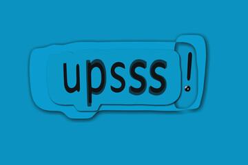 Obraz Tło - upsss! - 03 - fototapety do salonu