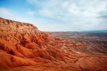 Rode Bergen Boguty. Kazachstan. Marslandschappen