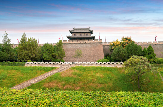 Two thousand years ago, the ancient city wall, Xi'an, China.