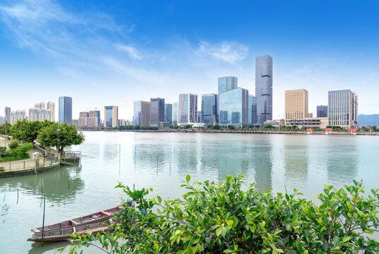 Now the city skyline, Fuzhou, China.