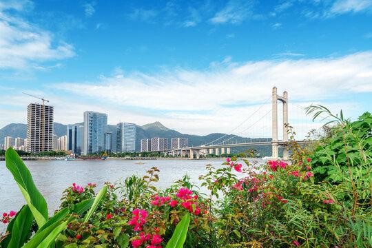 Gushan Bridge in Minjiang, Fujian, Fuzhou, China