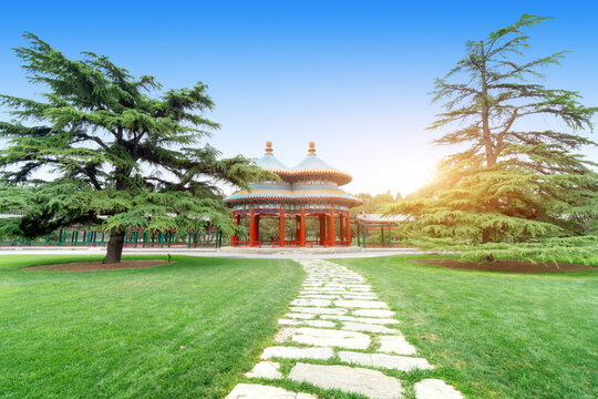 The Shuanghuan Pavilion was built by the emperor for his mother's birthday. Beijing China.