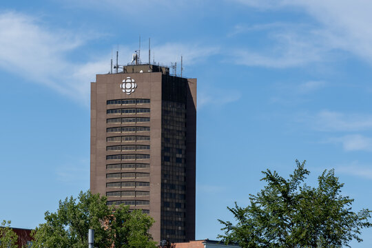 Montreal, QC, Canada - September 4, 2021:  Old CBC building in Montreal, QC, Canada. The building will be changed to condo units, rental apartments, social housing units and office space.