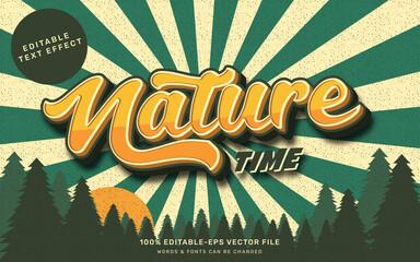 Obraz Vintage nature text effect - fototapety do salonu