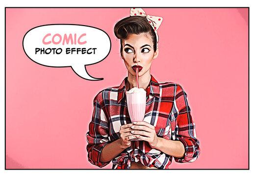 Comic Style Photo Effect