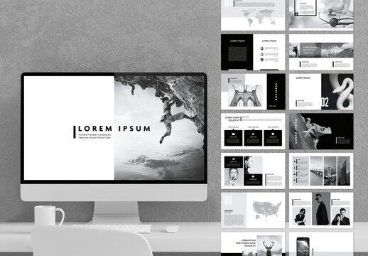 Minimal Grey and Black Multipurpose Presentation