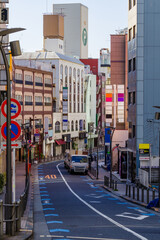 Roppongi's messy streets Tokyo, Japan