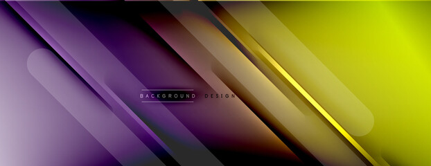 Fototapeta Abstract background. Shadow lines on bright shiny gradient background. obraz