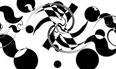 Obraz mystical and principled black pattern on white wallpaper for design - fototapety do salonu