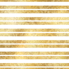 Fototapeta Festive Vector Geometric Striped Golden Seamless Pattern. Classic shiny gold foil repeat texture with horizontal lines. White stripes holiday luxury glow print for digital paper, background, wallpaper obraz