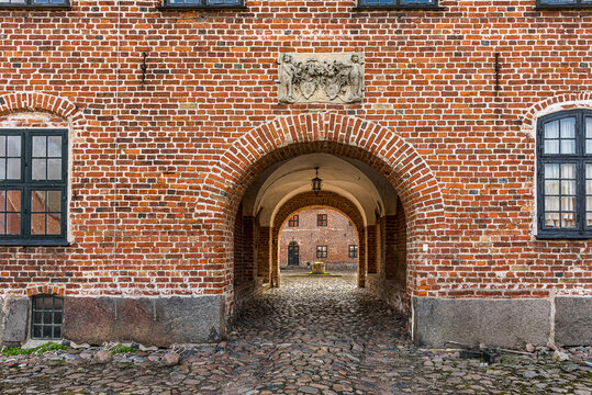 The main gate to Holsteinborg Castle