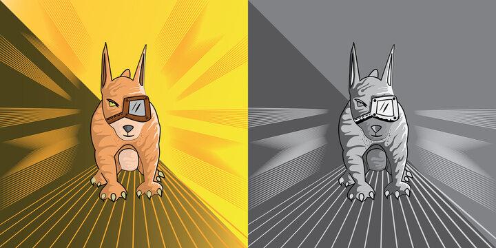 Dog. Vector illustration of pit bull