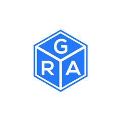 Fototapeta GRA letter logo design on white background. GRA creative initials letter logo concept. GRA letter design.   obraz