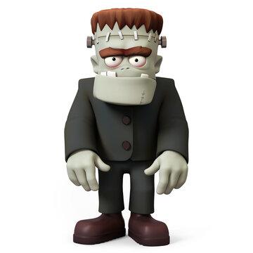 Frankensteins monster 3D character front view
