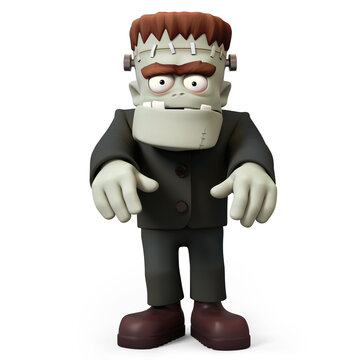 Frankensteins monster 3D character haunting