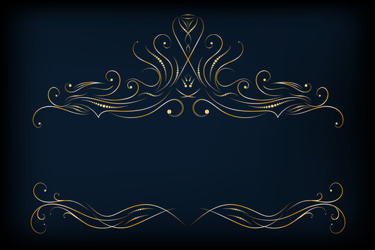 Endless ornamental border for ribbons, fabric, wrapping, wallpaper, tape.