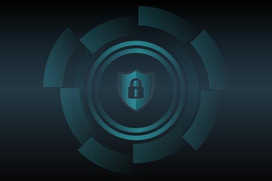 Shield protect icon. Antivirus interface. Digital interface. Vector illustration.