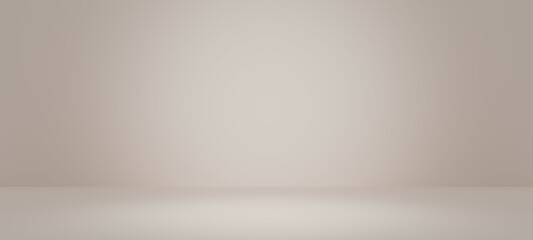 Abstract pastel light  yellow color and redial gradient background with white table backdrops...