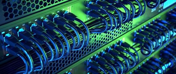 Fototapeta Web server running. High performance network.  obraz