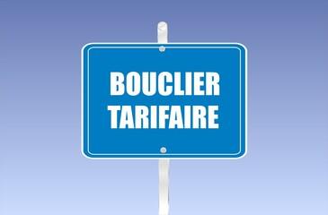 Obraz panneau bouclier tarifaire - fototapety do salonu