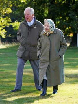 Britain's Queen Elizabeth and Prince Charles visit Scotland