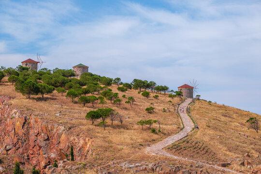 Bozcaada bays, windmills views
