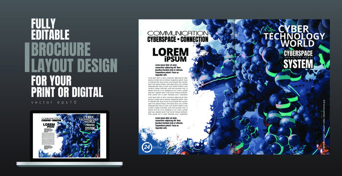 Template vector design ready for use for brochure, annual report or magazine