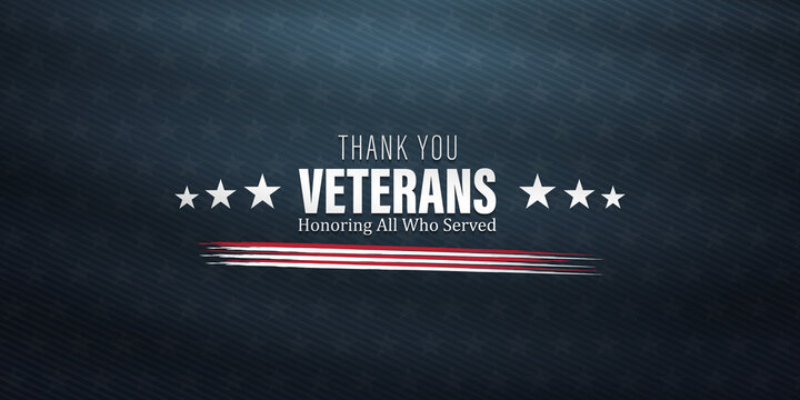 Thank you veterans, November 11, honoring all who served, posters, American flags background vector illustration