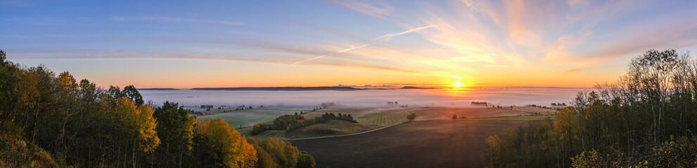 Fototapeta Panoramic view at a sunrise obraz