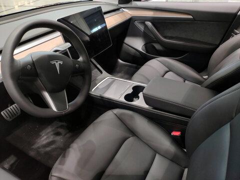 intérieure voiture Tesla