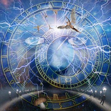 Astronomic Clock. 3D Rendering