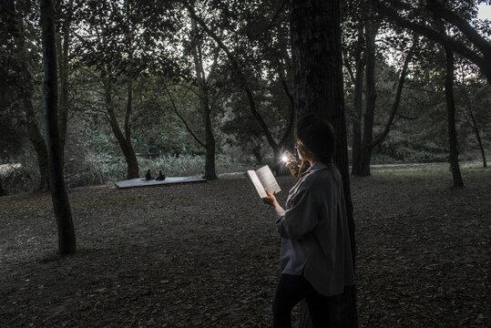 passion de la lecture jusque la nuit tombée