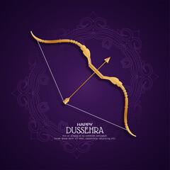 Obraz Happy Dussehra Indian festival greeting background - fototapety do salonu