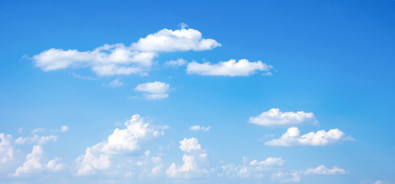 Blue sky with clouds. Sky replacement.
