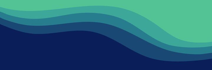 Obraz modern waves blue green color vector illustration good for wallpaper, background, web banner, backdrop,  desktop wallpaper, and design template - fototapety do salonu