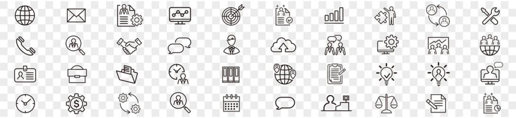 Fototapeta Administrator Manager administrator vector icons set. for web design isolated on white background obraz