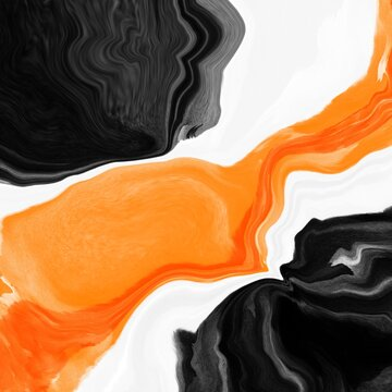 colorful black and orange abstract illustration marble art screen wallpaper background
