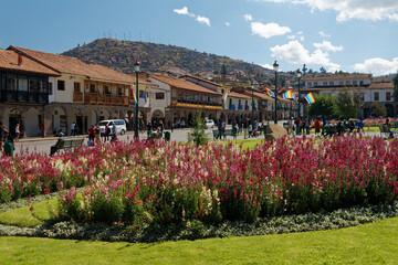 Fototapeta Miasto Cuzco, dawna stolica imperium Inków, w dzien. obraz