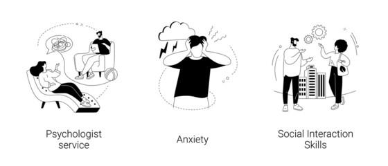 Fototapeta Mental health abstract concept vector illustrations. obraz