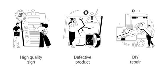 Fototapeta Product quality abstract concept vector illustrations. obraz