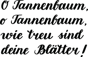 Obraz Hand-drawn German lettering. German words from the Christmas song