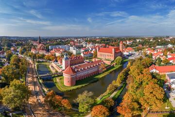 Fototapeta Lidzbark Warmiński- Zamek Biskupów Warmińskich wraz z przedzamczem,bastionem i basztą obraz