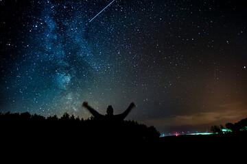 Fototapeta gwieździste niebo obraz