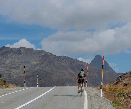 Cyclist under stress