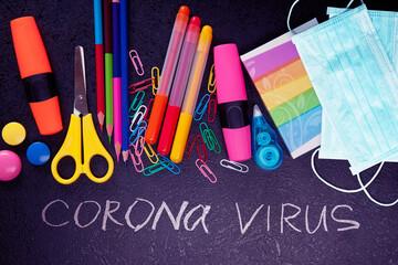 Obraz Welcome back to school after corona pandemic - fototapety do salonu