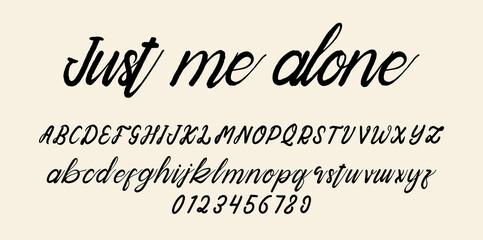 Obraz handwriting script font alphabet - fototapety do salonu