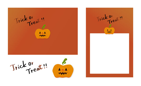 ハロウィンのかぼちゃのグラフィック素材セット