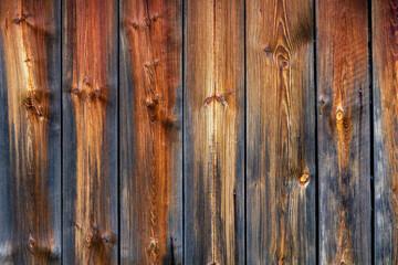 Fototapeta Tło z brązowo-szarych desek z widocznymi sękami obraz