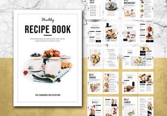 Fototapeta Cookbook Layout obraz